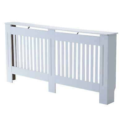 Large Radiator Cover MDF Lined Grill Slatted Design 172L X 19W 81H Cm