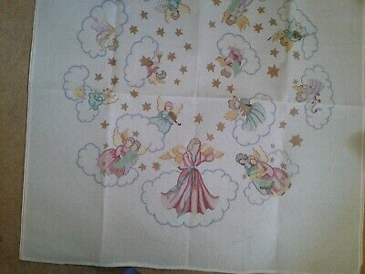 Needlepoint Canvas. Large Round with Angels. Tree skirt