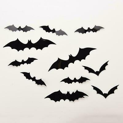 20//set Halloween Scary 3D Flying Bats Wall Stickers Decor Room Decoration H W8H1