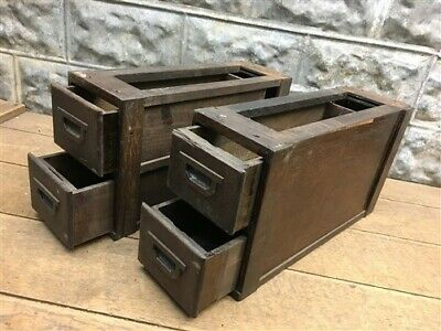 4 Sewing Machine Drawers, Singer Treadle Cabinet, Sign Wood Cubbyhole a94