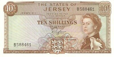 Jersey 10 Shillings 1963 Pick 7 Unc