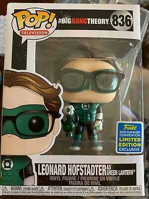 Funko Pop Leonard Hofstadter as Green Lantern Big Bang Theory 836 SDCC 2019.