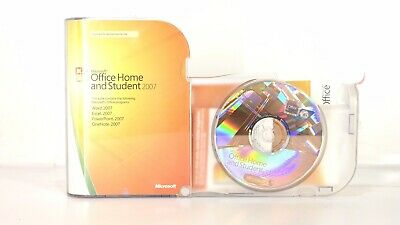 Microsoft Office Home and Student 2007 GENUINE Word Excel PowerPoint OneNote B11