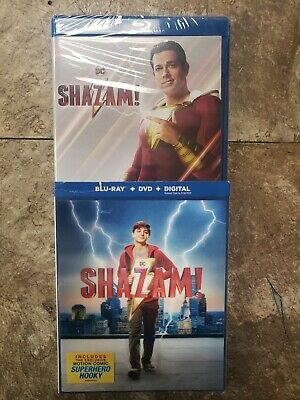 NEW Shazam Blu-Ray + DVD + Digital + Lenticular Slipcover (2019) DC Shazam!