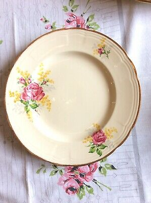 Gorgeous 1940s ALFRED MEAKIN ENGLAND Roses & Wattle Small Dinner Plate