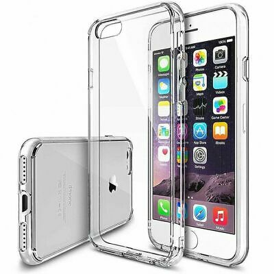 For iPhone 8 6S 7 Plus X XR Ultra Thin Clear TPU Silicone Soft Rubber Case Cover