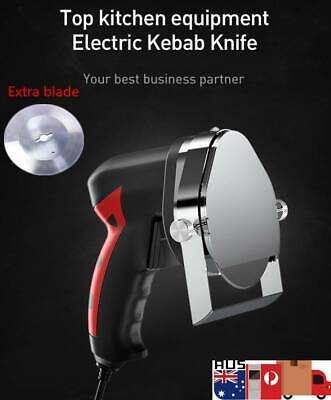 Professional Commercial Kebab Knife Electric Meat Carver Shawarma Slicer 2 Blade
