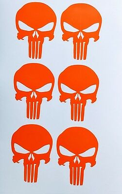 5 Small Punisher Decals Sniper Navy Seal Army AR15 Mag Car Truck American Mini A