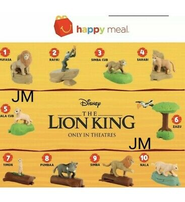 Lion King 2019 Mcdonalds Happy Meal Toys - Complete Set Of 10