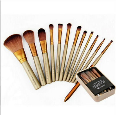 12pcs Makeup Brush Set Kit Eyebrow Eyeshadow Foundation Powder Contour Lip Pro