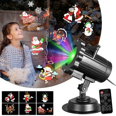 LED 6 Patterns Projector Christmas Moving Laser Projection Home Garden Light US