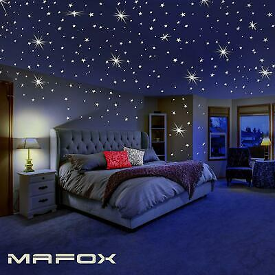 Glowing Wall Decals Glow in The Dark Stars for Ceiling Wall Sticker Room Decor