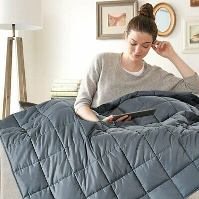 Full Queen Adults Weighted Blanket 15lb 20Lb Reduce Stress Deep Sleep