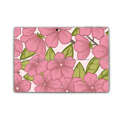 Pink Flower Vinyl Skin Sticker Wrap Cover to fit Surface Pro Printed Wrap