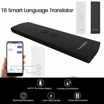 T6 Smart Voice Translator Portable Two-Way Real Time 41 Languages Translation
