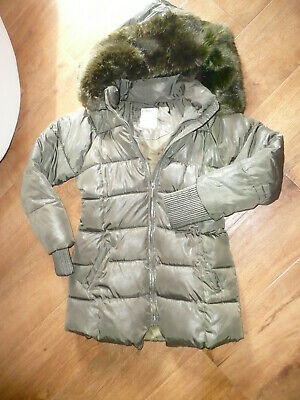 Girls Mayoral Karachi Green Padded Hooded Coat Age 14 Years Chest 34 Inch Vgc