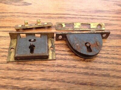 Antique or vintage writing slope box lock & keep spares parts - now £22.00