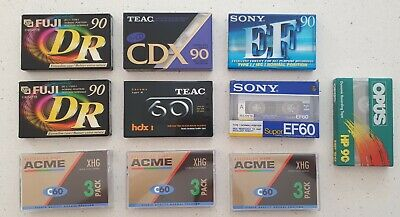 Blank cassette tapes X 10 TEAC SONY OPUS ACME FUJI