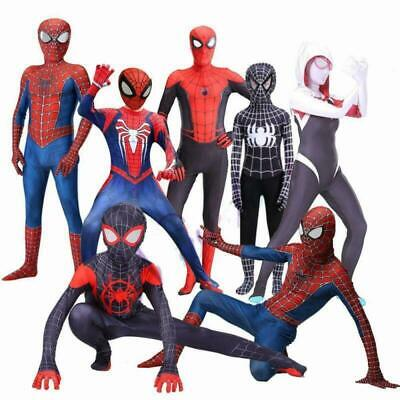 New Adult Kids Spider Gwen Miles Morales Spider Man Cosplay Costume Zentai Spide