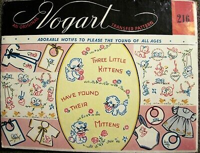 Vintage Vogart Transfers for Embroidered Baby Items