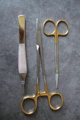 3 Micro Surgery Instruments Set Dental Surgical Medical Implant Dentistry Supply