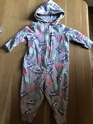 M&S Cotton Onesie Not Gerber Hooded Unicorn 1-2 Years
