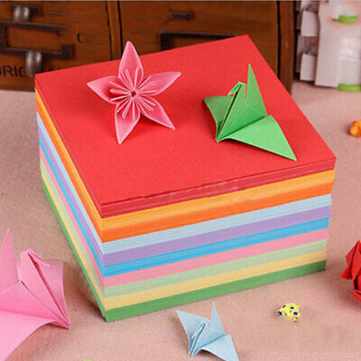 100/200 Sheets Origami Paper Double Sided Color Square 8x8cm DIY Craft