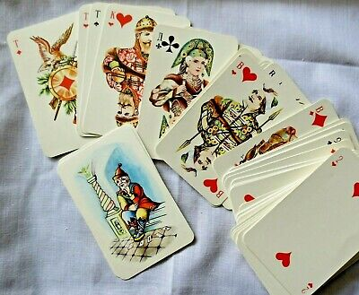 Vintage Russian Playing Cards - Folk Art