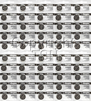 50 pc 1632 Energizer Watch Batteries CR1632 CR 1632  Lithium Battery 0%HG