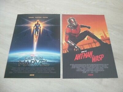 Captain Marvel & Ant Man And The Wasp Odeon A4 Posters (New) Marvel Avengers