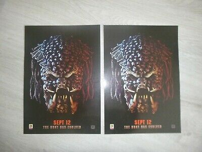 THE PREDATOR ODEON A4 GLOSSY POSTERS x 2 (New)
