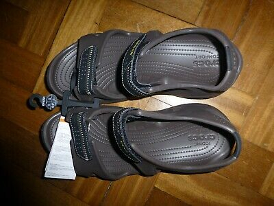 Crocs SWIFTWATER RIVER SANDAL Mens UK 11 Croslite Sports Sandals Espresso/Black