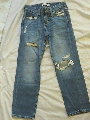 ABERCROMBIE kids boys jeans DISTRESSED RIPPED sz 10 slim MORE LISTED!