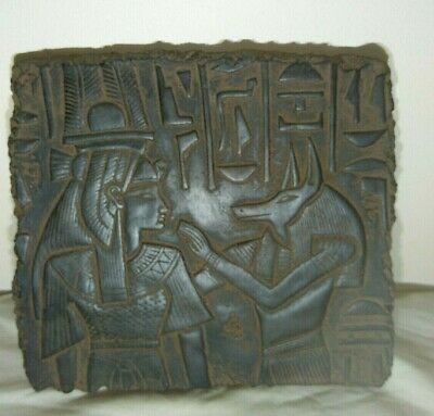 RARE ANCIENT EGYPTIAN ANTIQUE ANUBIS NEFERTARI Stela Stella 1651-1420 BC