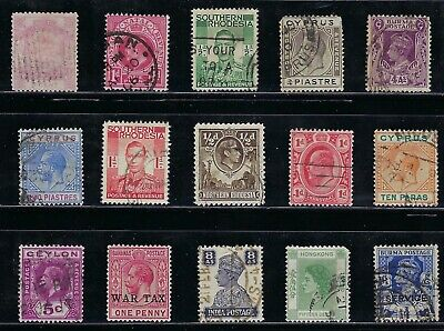 Older British Colonies - Collection of  used Stamps......... R 8 27