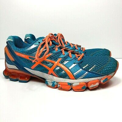site réputé 8b354 58b4e ASICS GEL KINSEI 4 Men's Size 10.5 Running Training Shoes Blue/Flash Orange