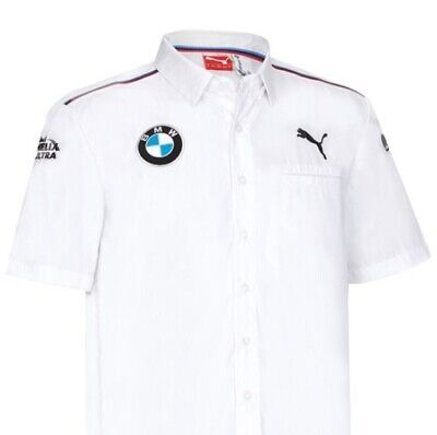 SHIRT Mens BMW M Power Motorsport Team DTM Touring Car Teamshirt White M CA