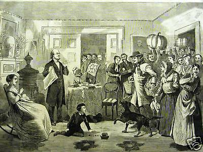 Winslow Homer MINISTER CHARITY PARTY 1868 Antique Print Matted