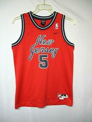 finest selection 74095 36db9 NBA NEW JERSEY Nets Jason Kidd Red Nike Throwback Youth Jersey Size Large