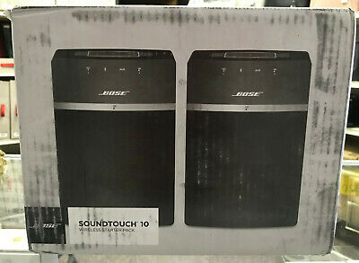Bose SoundTouch 10 x 2 Wireless Starter Pack Speakers 789500-1100 New Sealed