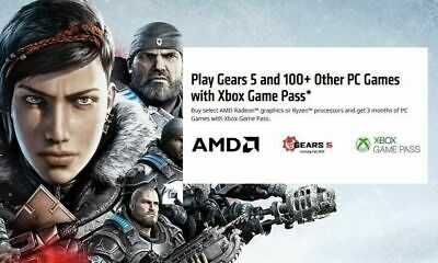 Xbox Game Pass 3 Month Digital Code Key For AMD Processors and Video Cards