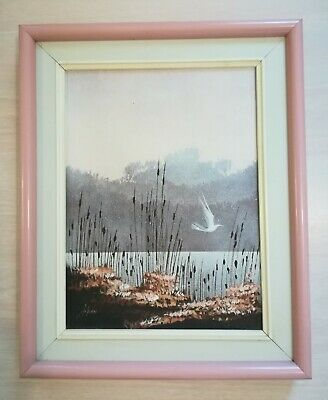 Original Acrylic Painting By Claude Genest Arpan Private Collection
