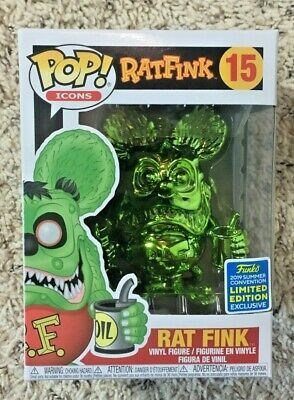 Funko Pop! Green Chrome Rat Fink SDCC 2019 Shared Exclusive #15