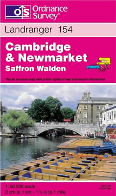 Cambridge and Newmarket, Saffron Walden (Landranger Maps), Ordnance Survey, Good