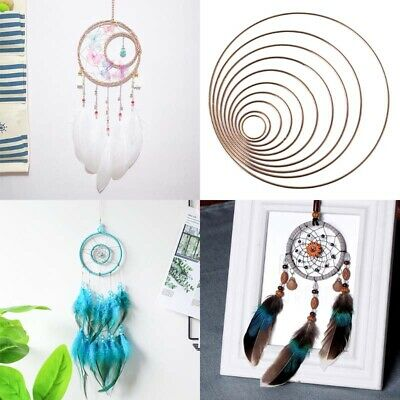 Hot Apparel Metal Accessory Ring Iron Dreamcatcher Ring Macrame Crafts Hoop DIY