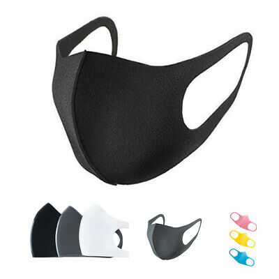 3 Pcs Anti Dust Surgical Respirator Mask Mouth Face Mask Washable Cycling Black