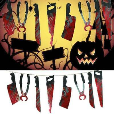 Halloween Haunted House Party Spooky Hanging Pennant Banner Room Decor Prop Hot