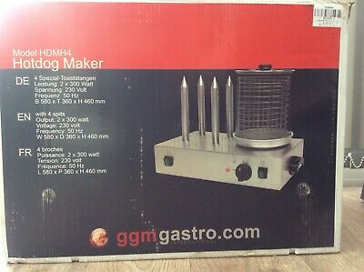 Hot Dog & Bun Warmer Electric Commercial Hotdog Steamer - Used Once & Boxed