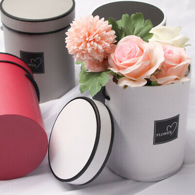 Newly Handheld Bouquet Flower Boxes Fashion Round Living Vases Florist Box AM8X