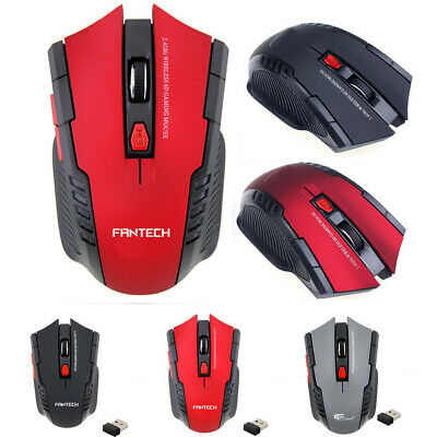 6 Keys 2.4Ghz  Mini adapter portable Wireless Optical Gaming Mouse For PC Laptop